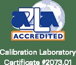 AZLA Akredite Kalibrasyon Laboratuvar Sertifikası # 2073.01